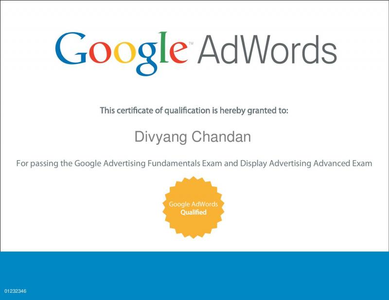 Google AdWords Qualified Certificate